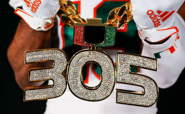 The 2019 Version Of The Miami Hurricanes Turnover Chain Is As Glorious As Ever