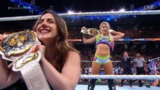 The WWE Women's Tag Team Champions Had A SummerSlam Kickoff Match After All