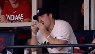 The Indians Scored Five Runs In An Inning After Baker Mayfield Shotgunned A Beer