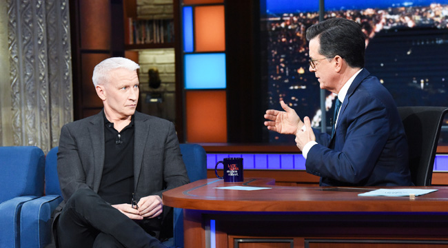 Anderson Cooper Couldn't Hold Back Tears While Listening To Stephen Colbert Speak About Grief And Suffering