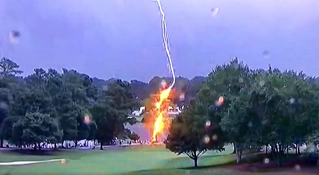 A Terrifying Lightning Strike Injured Spectators At The Tour Championship In Atlanta
