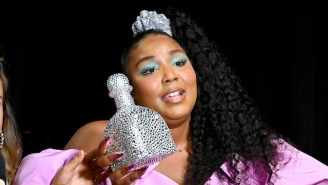 The Internet Reacts To Lizzo's Bedazzled Patron Bottle She Carried Around The 2019 VMAs