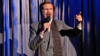 Ron Burgundy Staged A Late-Night TV Takeover With His Awkward Stand-Up Act