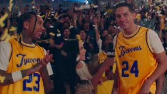 G-Eazy And Tyga Take Down Their Competition On The Basketball Court In Their Athletic 'Bang' Video