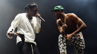 Tyler The Creator Celebrated ASAP Rocky's Release By Chasing Him Around The Studio