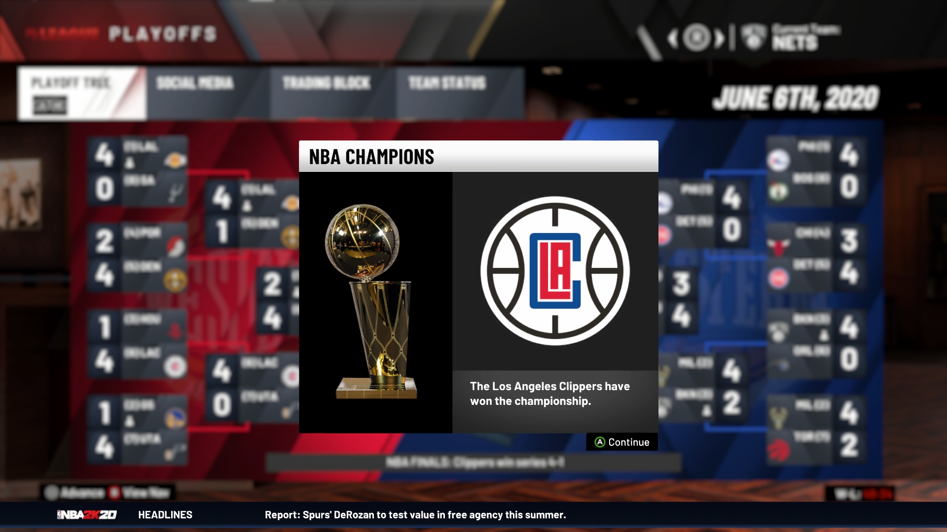 Nba Playoffs 2020 Schedule.Here S How Nba 2k20 Predicts The 2019 20 Season Will Go Down
