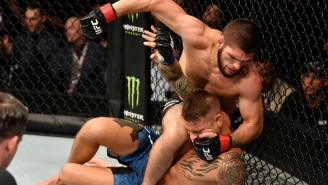 Khabib Nurmagomedov Submitted Dustin Poirier To Retain The Lightweight Title At UFC 242