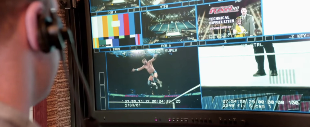 A WWE producer oversees Raw