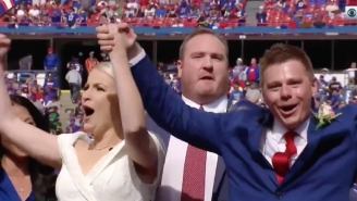 Two Bills Fans Got Married At Halftime Of A Bills-Patriots Game