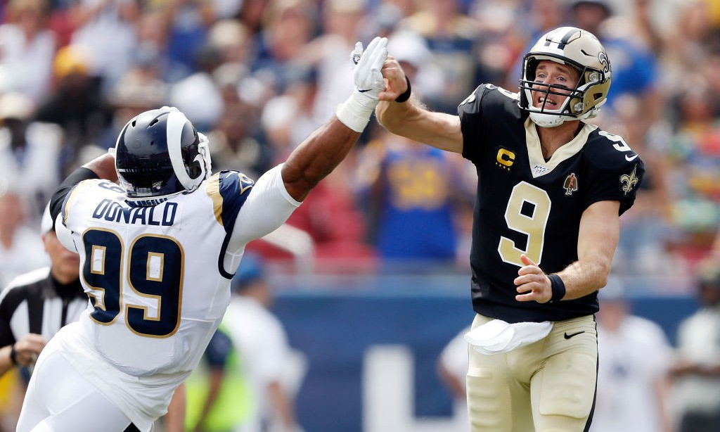 Drew Brees Injured His Right Hand In The First Quarter Against The Rams