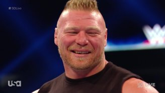 Brock Lesnar Made A Surprise Smackdown Appearance To Set Up The Fox Debut Main Event