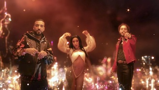 French Montana, Post Malone, And Cardi B Are City-Sized In Their Giant 'Writing On The Wall' Video