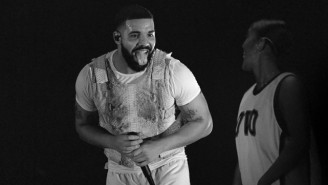 Drake Wore A Kanye-Inspired Sweatshirt At A Lil Keed Show And Fans Think He's Trolling