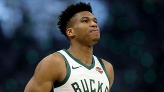 Giannis Antetokounmpo Wants To Pay The Thunder For Breaking A Team Sign In Frustration