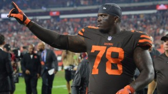 Browns LT Greg Robinson Got Ejected For Kicking A Titans Player In The Head