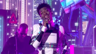 Lil Nas X Performs 'Panini' And Gets Scared By A Billy Ray Cyrus Lookalike On 'Ellen'