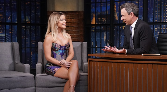 Maren Morris Discusses Her Failed 'American Idol' Audition And Performs 'The Bones' On 'Late Night'