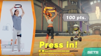 Nintendo's Latest Switch Accessory Is A Workout Game Set In A Very Swole World