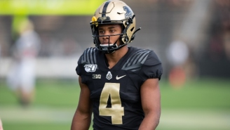 Purdue Star Rondale Moore Had To Be Helped Off The Field With A Leg Injury