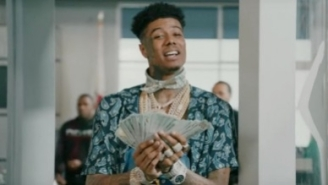 Blueface Gets Flagged By The TSA For Carrying A Wad Of Cash In His 'First Class' Video With Gunna