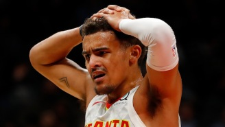 Trae Young Was Helped To The Locker Room After Rolling His Ankle Against The Heat (UPDATE)