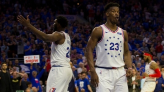 Jimmy Butler On Being 'Thrown' Into The KAT-Embiid Scuffle: 'I Like It Though'
