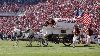 The Sooner Schooner Crashed During Oklahoma's Game Against West Virginia