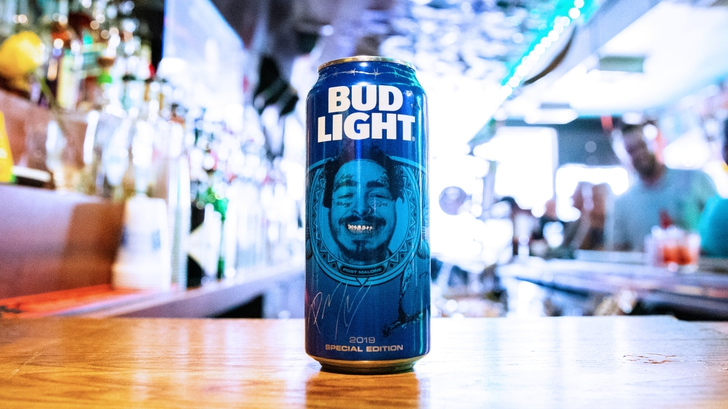 Post Malone Is Getting His Own Official Bud Light Can With His Face On It