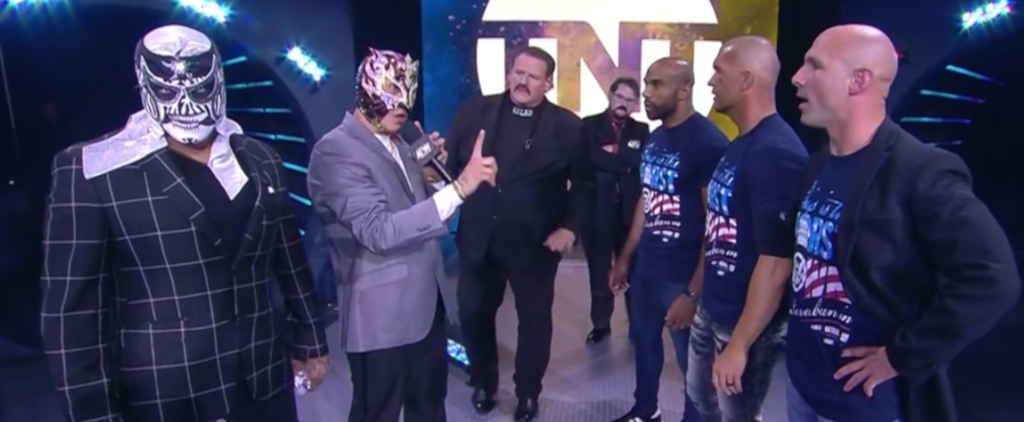The Lucha Brothers confront SCU on AEW Dynamite
