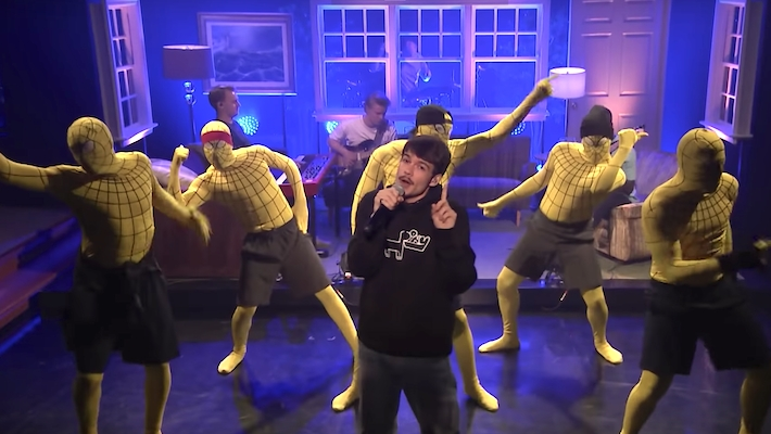 Rex Orange County Enlists Help From Several Spider-Men While Performing '10/10′ On 'The Tonight Show'