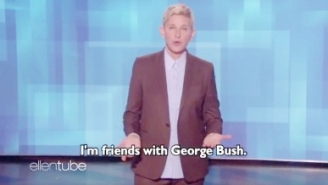 Ellen DeGeneres Attempts To Defend Her Friendship With George W. Bush Following An Online Backlash