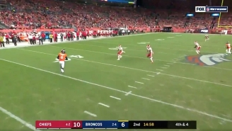 Denver Ran A Fake Punt That Went Terribly Wrong Against The Chiefs
