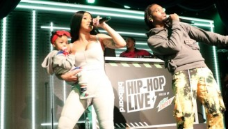 Cardi B And Kulture Joined Offset Onstage To Perform 'Clout' At 'Billboard Hip-Hop Live' In New York