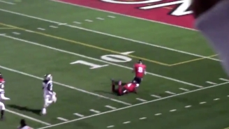 A High School Football Player Had To Tackle His Own Teammate After An Interception