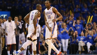 Serge Ibaka Makes KD Choose Between Steph And Russ As The Pair Reminisce On Their OKC Days