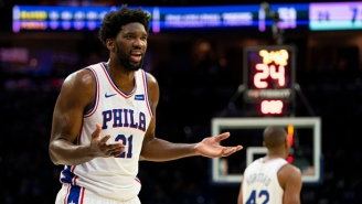 Joel Embiid Spoke To Reporters While Staring At The Floor For Some Reason