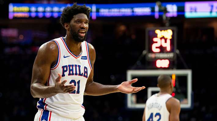 Joel Embiid Spoke To Reporters While Starting At The Floor For Some Reason