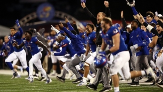 Kansas Beat Texas Tech After Getting A Field Goal Blocked And Recovering A Lateral By The Red Raiders