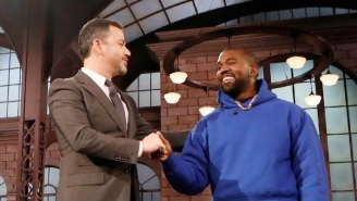 Kanye West Makes A Surprise Appearance On 'Jimmy Kimmel' Instead Of Releasing 'Jesus Is King' On Time