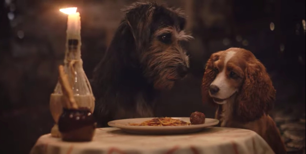 The Latest 'Lady And The Tramp' Remake Trailer Recreates That Iconic Spaghetti Scene