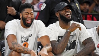 LeBron Gifted Anthony Davis No. 23 With A Fake Card From His Wife In An L.A. Pizza Place