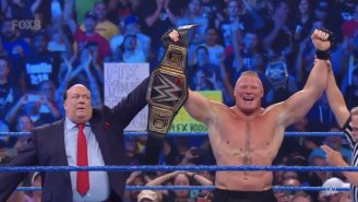Brock Lesnar Won The WWE Championship In Seconds And Got Challenged By Cain Velasquez