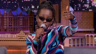 Lupita Nyong'o Freestyles About Beyonce As 'Troublemaker' On 'The Tonight Show'