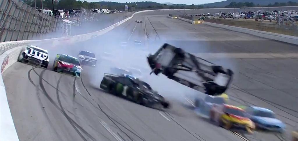 'The Big One' At Talladega Featured Brendan Gaughan Flipping A Car Through The Air