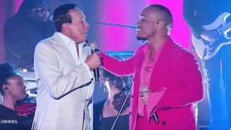 Anderson .Paak And Smokey Robinson Give A Sensual Performance Of 'Make It Better' On 'Jimmy Kimmel Live'
