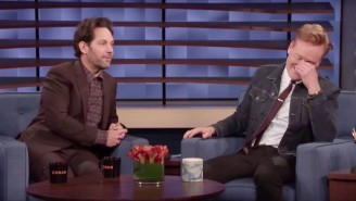 Paul Rudd Brought Back Late-Night's Best Recurring Joke On 'Conan,' And Everyone Is Delighted