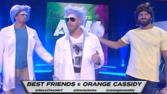 Orange Cassidy And Best Friends Got A Full 'Rick And Morty' Entrance On AEW Dynamite, With Commentary