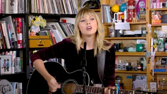 Taylor Swift Relives The Origins Of Her 'Lover' Songs During A Raw Tiny Desk Performance
