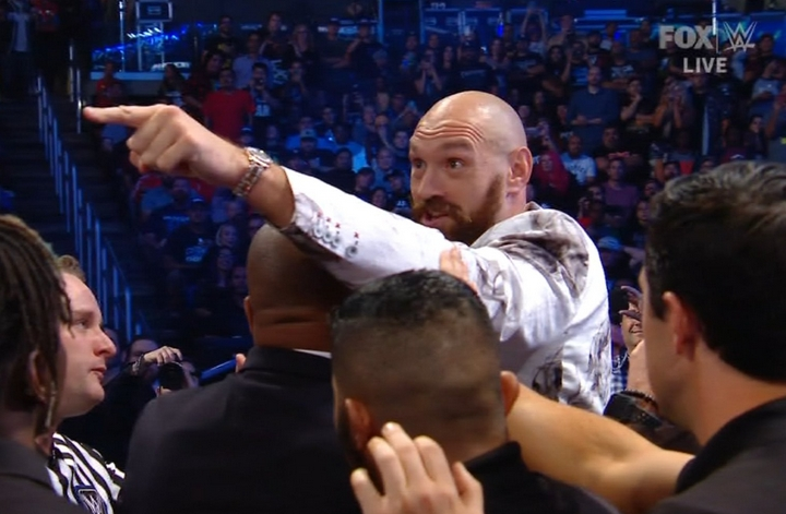 WWE's Braun Strowman And Boxer Tyson Fury Almost Got Each Others' Hands On Friday Night Smackdown
