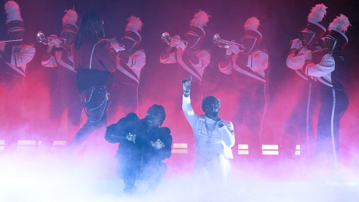 Young Thug And Gunna Perform 'Hot' With A Marching Band On 'The Tonight Show'